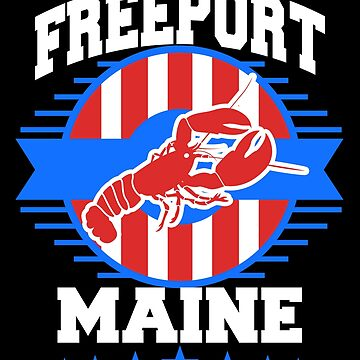 Freeport Maine Cuberland Summer Vacation Travel Gift by kh123856
