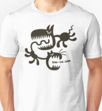 Spooky Cat and Dog Slim Fit T-Shirt