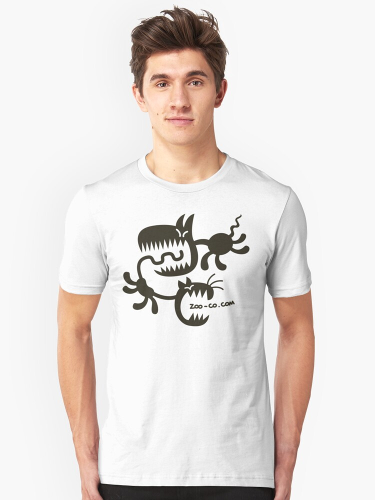 Spooky Cat and Dog Unisex T-Shirt Front