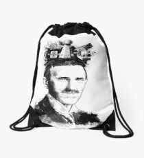 The Genius of Nikola Tesla  Drawstring Bag