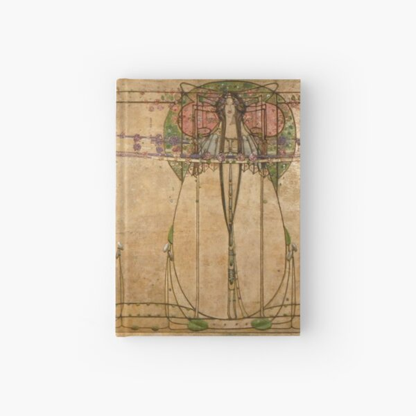 The May Queen. Cropped detail. 1900. Margaret Macdonald Mackintosh. Glasgow Style, Glasgow School. Hardcover Journal