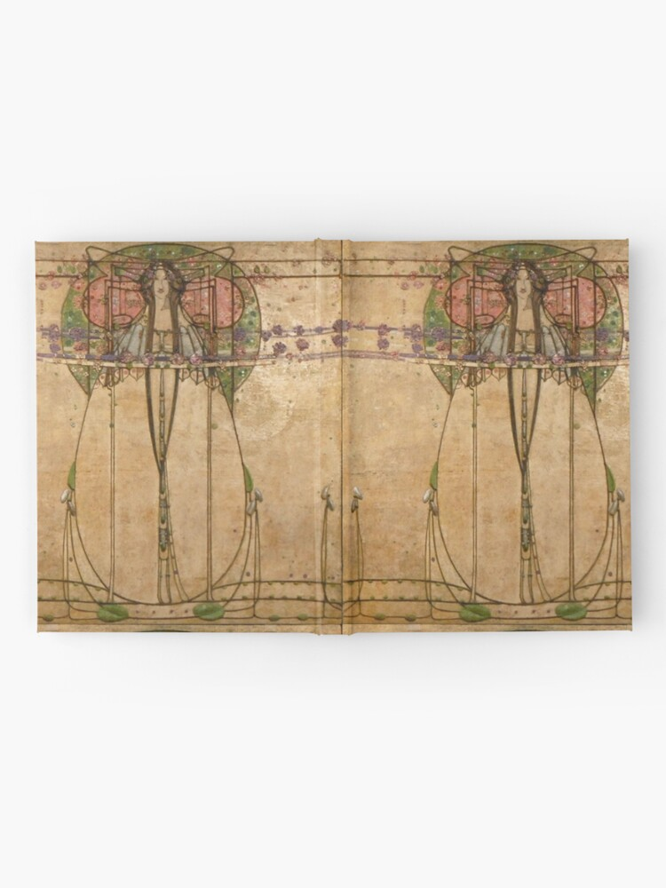 Alternate view of The May Queen. Cropped detail. 1900. Margaret Macdonald Mackintosh. Glasgow Style, Glasgow School. Hardcover Journal
