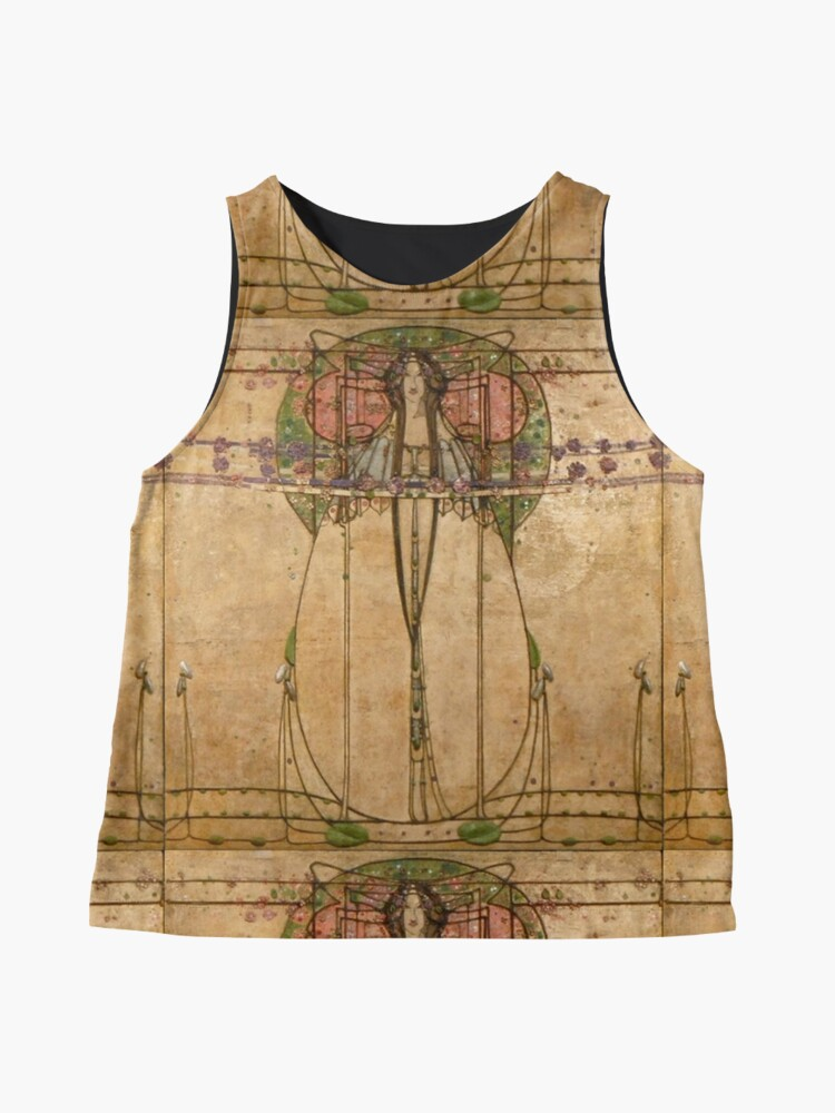 Alternate view of The May Queen. Cropped detail. 1900. Margaret Macdonald Mackintosh. Glasgow Style, Glasgow School. Sleeveless Top