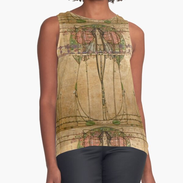 The May Queen. Cropped detail. 1900. Margaret Macdonald Mackintosh. Glasgow Style, Glasgow School. Sleeveless Top