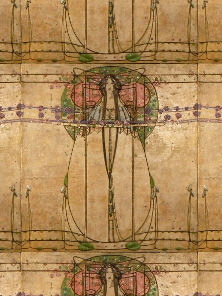 The May Queen. Cropped detail. 1900. Margaret Macdonald Mackintosh. Glasgow Style, Glasgow School. by TOMSREDBUBBLE