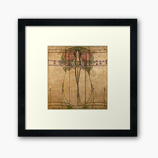 The May Queen. Cropped detail. 1900. Margaret Macdonald Mackintosh. Glasgow Style, Glasgow School. Framed Art Print