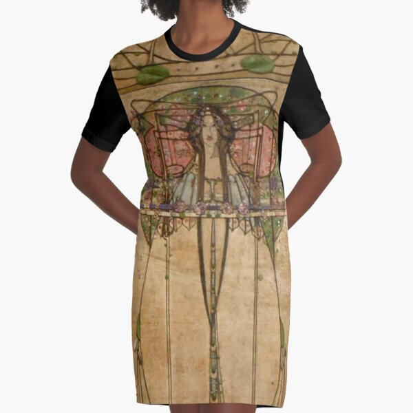 The May Queen. Cropped detail. 1900. Margaret Macdonald Mackintosh. Glasgow Style, Glasgow School. Graphic T-Shirt Dress