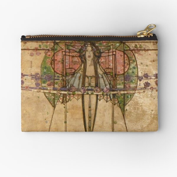 The May Queen. Cropped detail. 1900. Margaret Macdonald Mackintosh. Glasgow Style, Glasgow School. Zipper Pouch