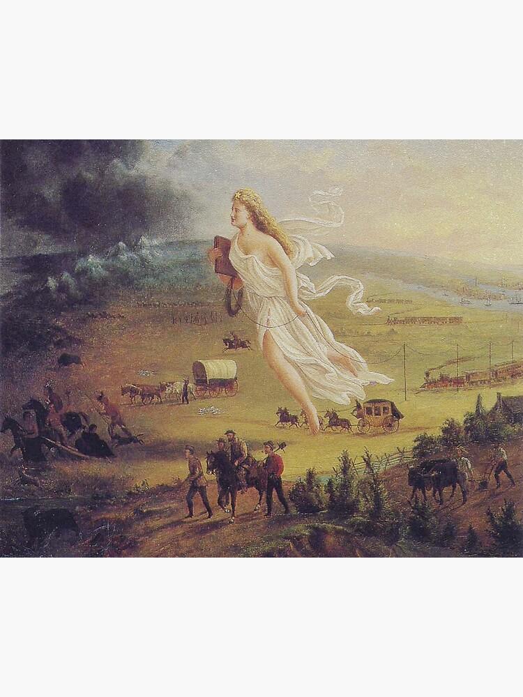 """John Gast, """"Spirit of the Frontier"""", 1872 by edsimoneit"""