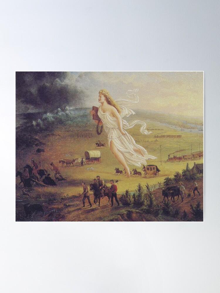 "Alternate view of John Gast, ""Spirit of the Frontier"", 1872 Poster"