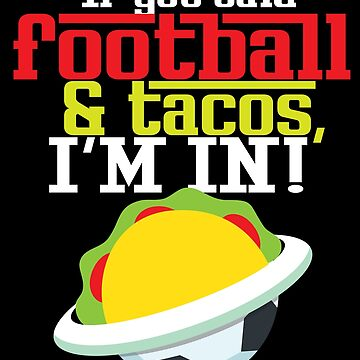Football Player Taco Lover Funny Men Women Sports Gift by kh123856