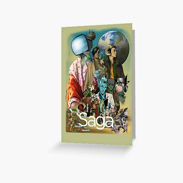 Saga comic Characters geek Greeting Card