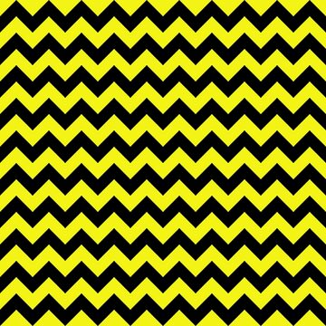 Large Cats Eye Yellow Halloween Chevron Pattern Stripes by Creepyhollow
