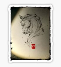 horse pencil sketch psdelux Sticker