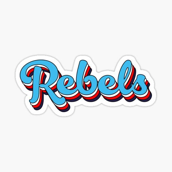 Rebels bubble letter Sticker