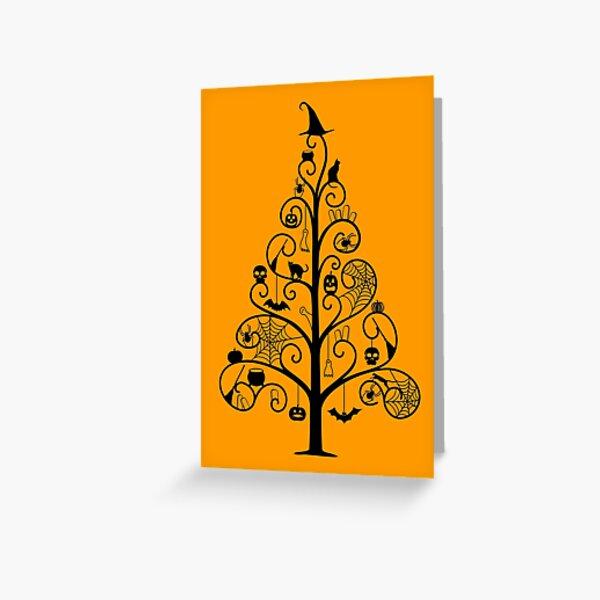 Spookyween Tree Greeting Card