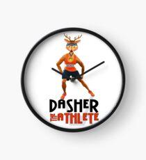 Dasher the Athlete Santa's Reindeer Clock