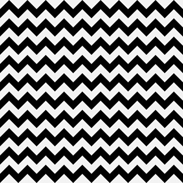 Large Pale Ghost White and Black Halloween Chevron Stripes by Creepyhollow