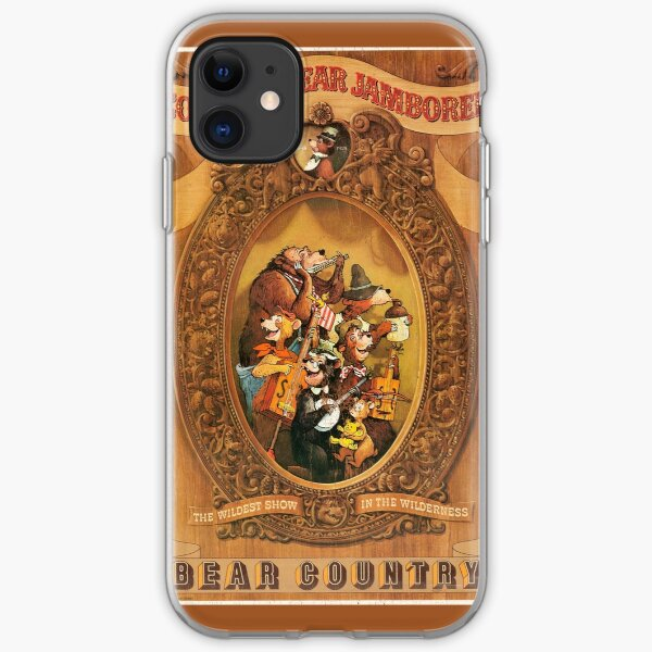 Country Bear Jamboree Bear Country Poster (Distressed) iPhone Soft Case
