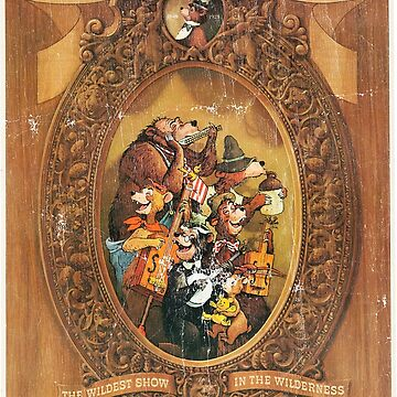 Country Bear Jamboree Bear Country Poster (Distressed) by PissAndVinegar