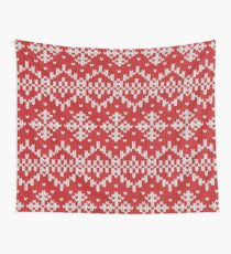 Knit Sweater Printed Pattern Winter Christmas Design Wall Tapestry