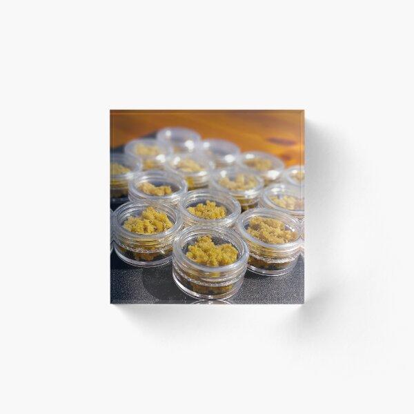 Waxy Grams live resin wax BHO Oil Dabs 420 Ganja Acrylic Block