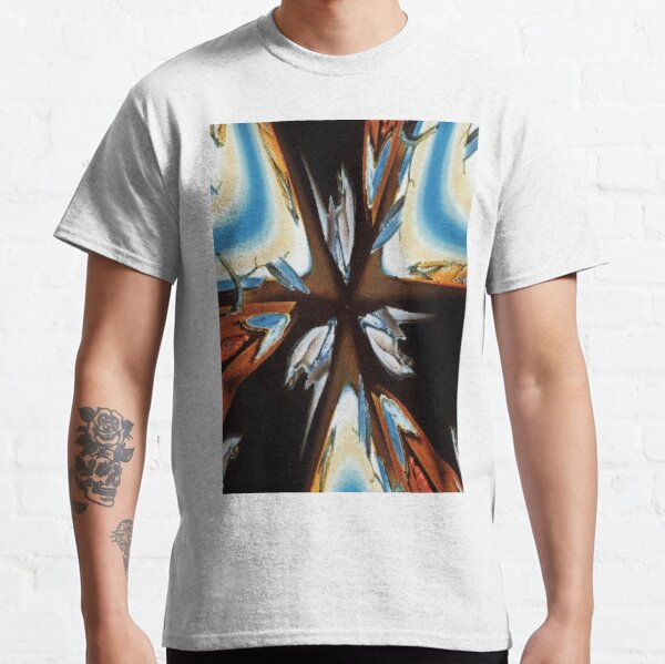 #star #abstract #christmas #red #decoration #art #graffiti #colorful #light #blue #design #illustration #symbol #holiday #sea #wall #color #graphic #shape #white Classic T-Shirt