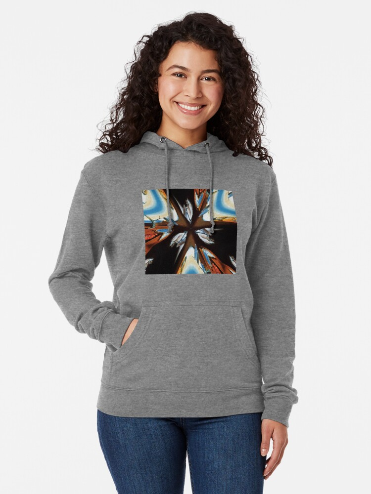 Alternate view of #star #abstract #christmas #red #decoration #art #graffiti #colorful #light #blue #design #illustration #symbol #holiday #sea #wall #color #graphic #shape #white Lightweight Hoodie