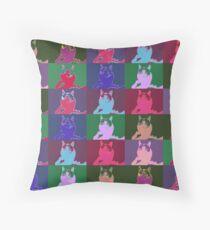 The``pop art`` Cat Throw Pillow