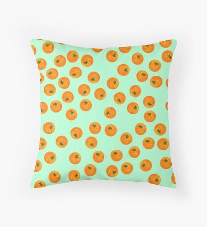 Cascading Oranges Throw Pillow