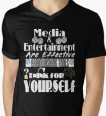 Think For Yourself Theme Men's V-Neck T-Shirt