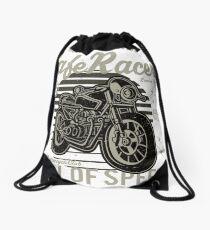 Café racer Drawstring Bag
