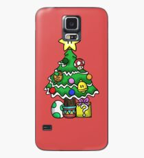 Funda/vinilo para Samsung Galaxy Super Mario - Mushroom Kingdom Navidad (viejo)
