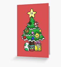 Tarjeta de felicitación Super Mario - Mushroom Kingdom Navidad (viejo)
