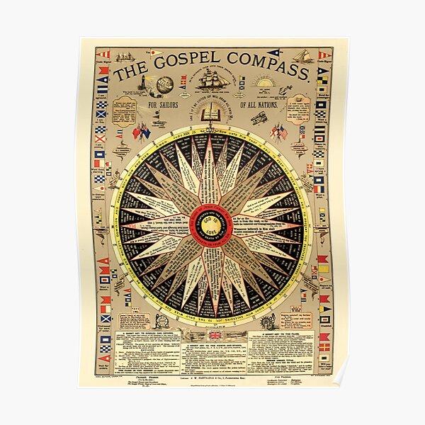 The Gospel Compass Poster