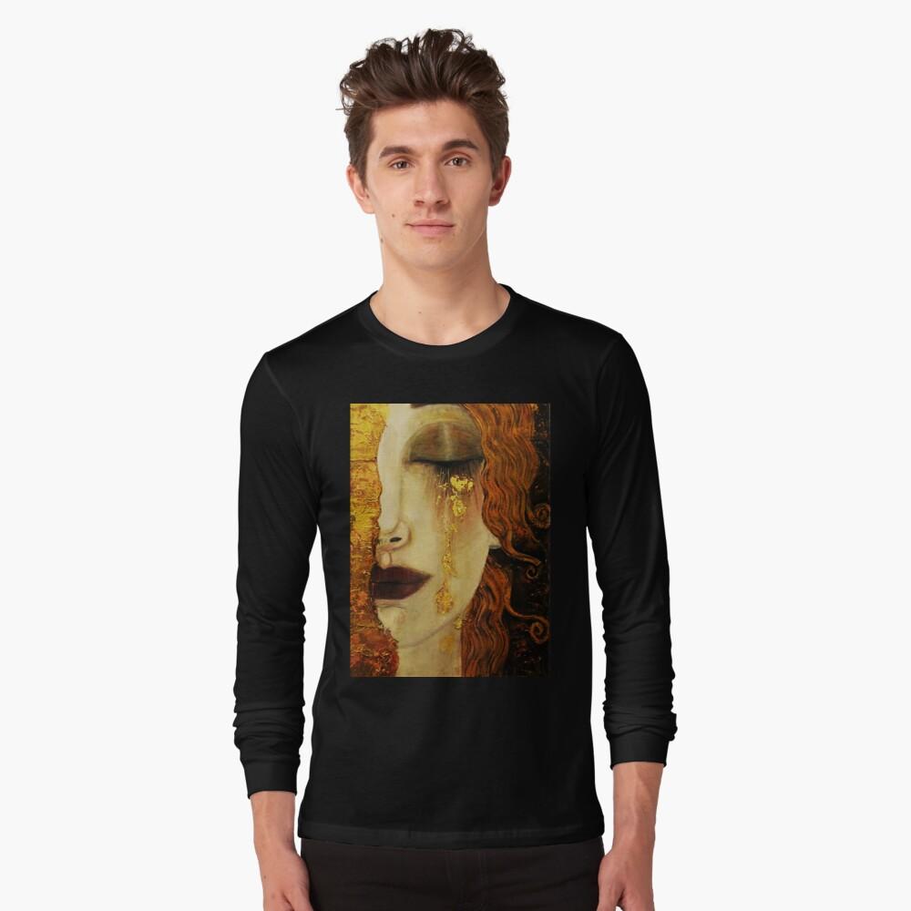 Golden Tears...Jugendstil art by Klimt Long Sleeve T-Shirt