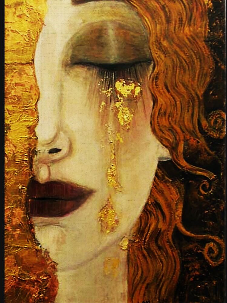 Golden Tears...Jugendstil art by Klimt by edsimoneit