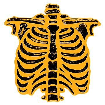 Halloween Skeleton Rib Cage Orange by ArtVixen