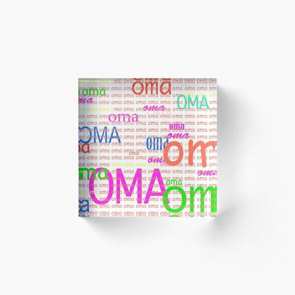 CONGRATULATIONS OMA!! Acrylic Block