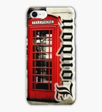 Red London Telephone Box Case iPhone Case/Skin