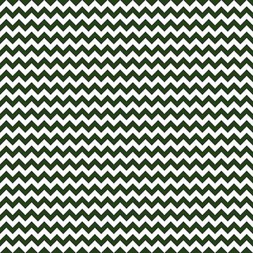 Dark Forest Green and White Chevron Stripe Pattern by podartist