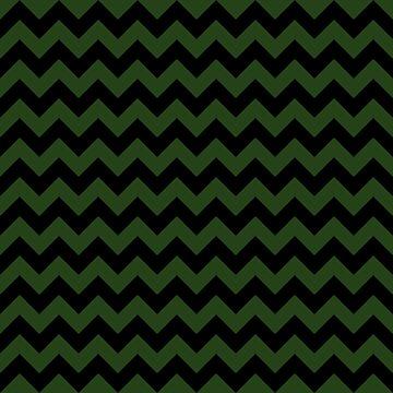 Large Dark Forest Green and Black Chevron Stripe Pattern by podartist