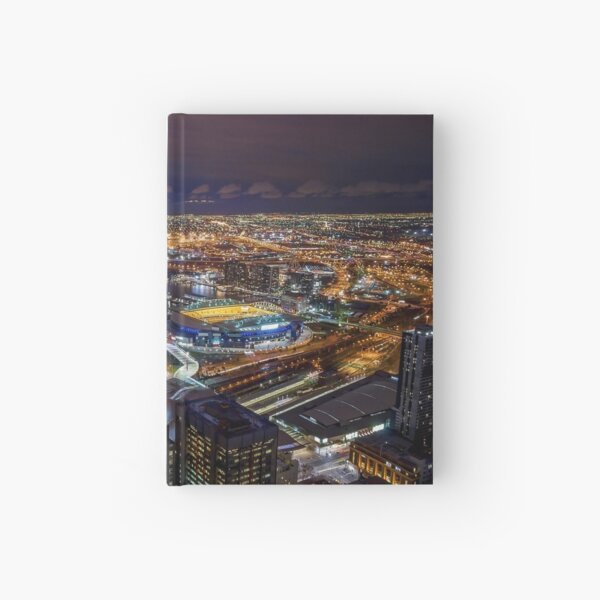 Melbourne at Night Hardcover Journal