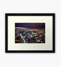 Melbourne at Night Framed Print
