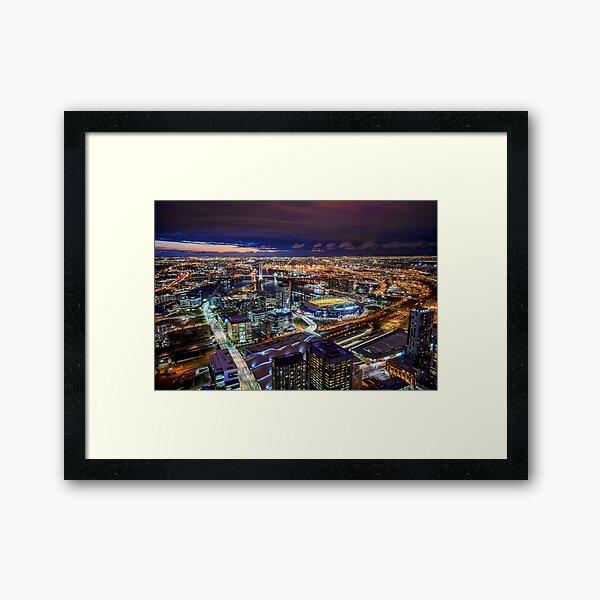 Melbourne at Night Framed Art Print