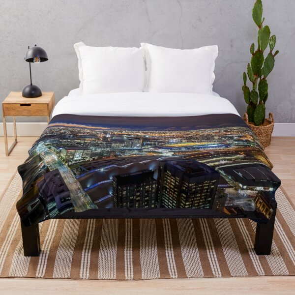 Melbourne at Night Throw Blanket