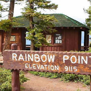 Rainbow Point sign, Bryce Canyon, Utah by FranWest