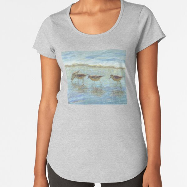 Shorebirds, A Day at the Beach Premium Scoop T-Shirt