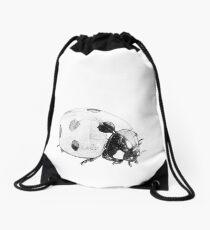 Beneficial Bugs - Black & White Sketch Drawing Ladybug Drawstring Bag
