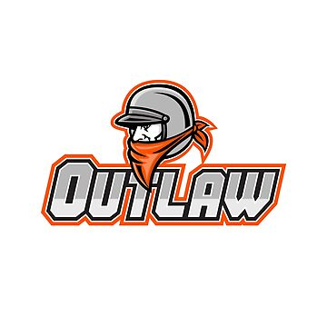 Outlaw Biker Mascot by patrimonio
